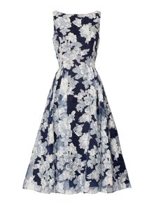 Adrianna Papell Tea length organz print dress