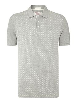Regular Fit Jacquared Front Polo Shirt