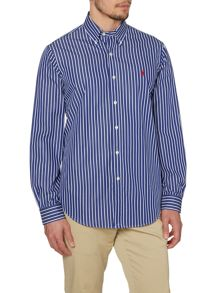 Polo Ralph Lauren Striped Long Sleeve Button Down Collar Shirt