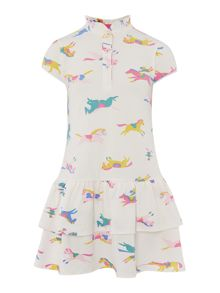 Girls pony print woven dress