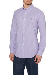 Gingham Long Sleeve Sport Shirt