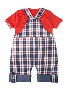 Baby boys tee and dungaree set
