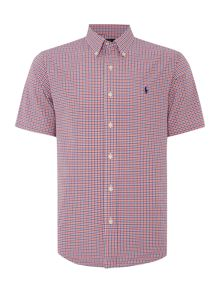 Gingham Short Sleeve Sport Shirt