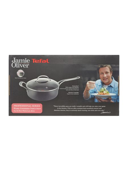 Jamie Oliver by Tefal Professional Series 26cm Sautepan with Glass Lid