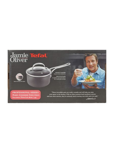 Jamie Oliver by Tefal Professional Series 16cm Saucepan with Glass Lid