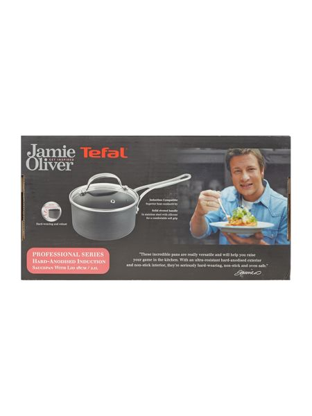 Jamie Oliver by Tefal Professional Series 18cm Saucepan with Glass Lid