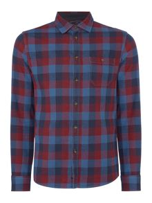 Criminal Webster Large Gingham Long Sleeve Shirt