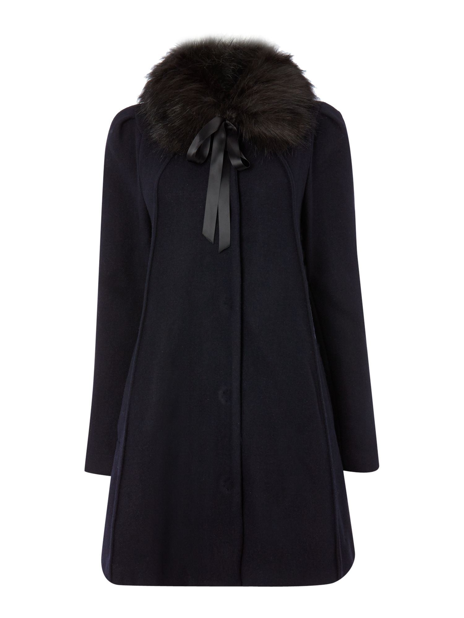 Therapy Fur collar swing coat $79.00 AT vintagedancer.com
