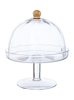 Biba Gold Rim Optic Cake Stand