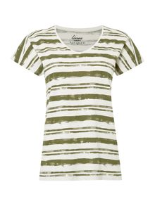 Moss Stripe Top