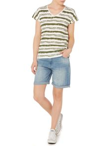 Linea Weekend Moss Stripe Top