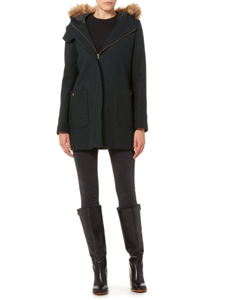 Therapy Fur hooded duffle coat