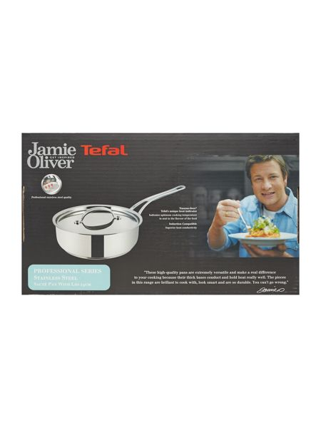 Jamie Oliver by Tefal Professional Series 24cm Sautepan with Lid