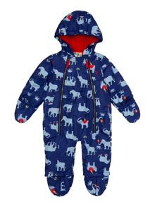 Newborn boy snowsuit