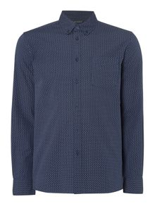 Criminal Finbar Mini Geo Long Sleeve Shirt