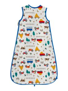 Newborn boy printed sleeping bag
