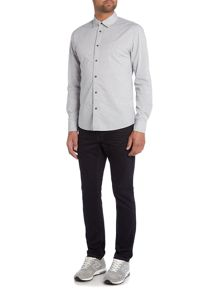 Criminal Merston Geo Print Long Sleeve Shirt