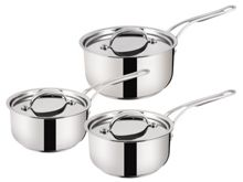 Jamie Oliver by Tefal Professional Series 3 piece Saucepan Set