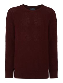Criminal Textured knit Iden crew neck knit jumper