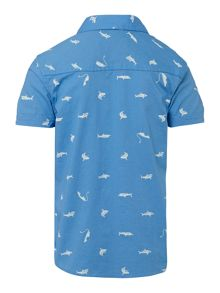 Boys short sleeve shark print t-shirt