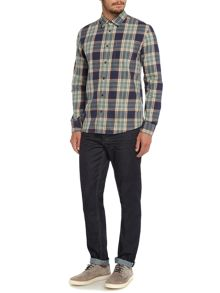 Criminal Fergus Multi Check Long Sleeve Shirt
