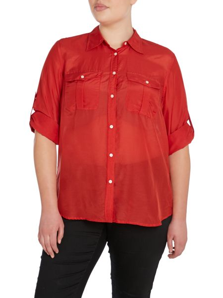Lauren Woman Plus Size Fitted shirt