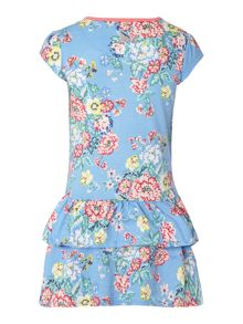 Girls Floral Print Jersey Dress