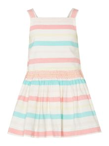 Girls Sleeveless Stripe Woven Dress