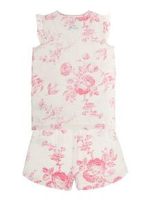 Girls floral print pyjamas