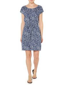 Cooley print jersey dress