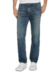 A Gold E Straight Cut Medium Wash Mid Rise Authentic Jeans