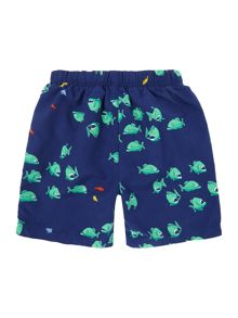 Boys Fish Print Swimshorts