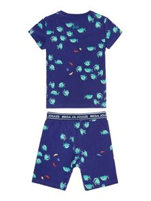 Boys Fish Printed Pyjama Set