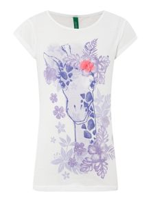 Girls giraffe t-shirt