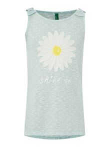 Girls daisy sleeveless tee