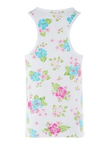 Girls Floral Sleeveless Tee