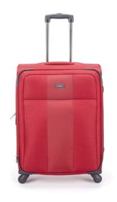 Salisbury red 4 wheel soft large suitcase