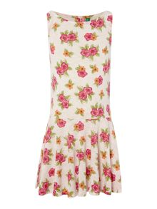 Girls floral sleeveless dress