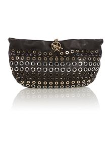 Sonia Rykiel Black domino small stud hobo bag