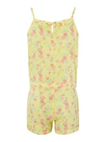 Girls Floral Playsuit