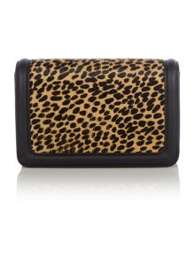 Countess black leopard mini cross body bag