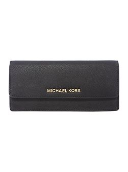 Michael Kors Jetset black flat flap over purse