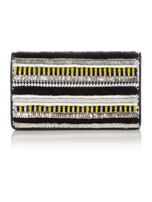 Evening yellow clutch bag