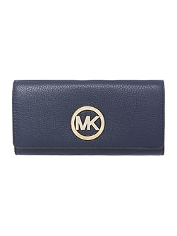 Michael Kors Fulton navy flap over purse