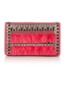 Evening pink clutch bag