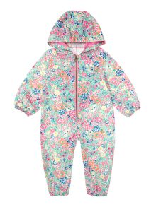 Girls All In One Floral Puddlesuit