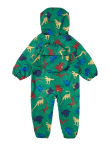 Girls All In One Dino Hooded Puddlesuit