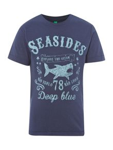 Boys seasides shark t-shirt