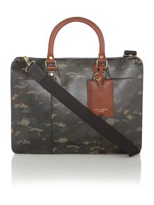 Printed Leather Cammo Bag