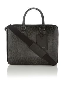 Printed Leather Leopard Bag